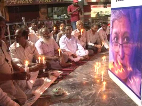 Candle March for Gauri Lankesh justice in Shahjahanpur