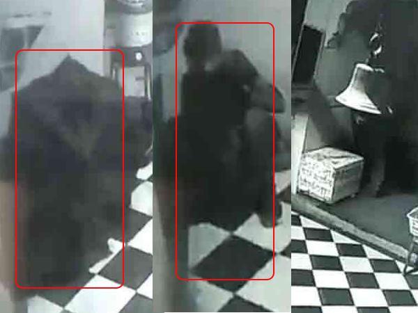 मंदिर में चोरी करने आए चोर ने CCTV कैमरों से बचने के लिए अपनाई ये ट्रिक