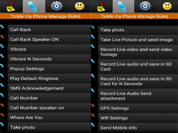 TickleMyPhone this app can help you alot on spying your partner