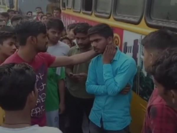 Baghpat UP: School bus conductor beaten up by parents for showing objectionable video to girls