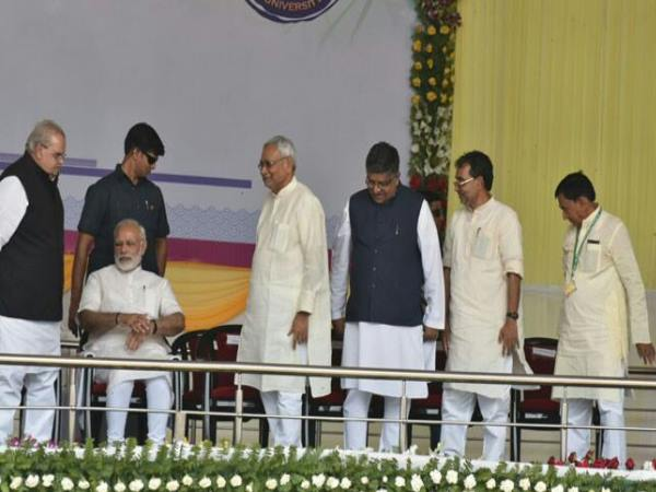 Patna University: Nitish Kumar threat Ex Minister to get out in Modi Presence