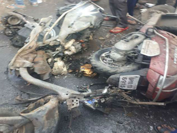 Two dead after explosion in a two-wheeler In Agra