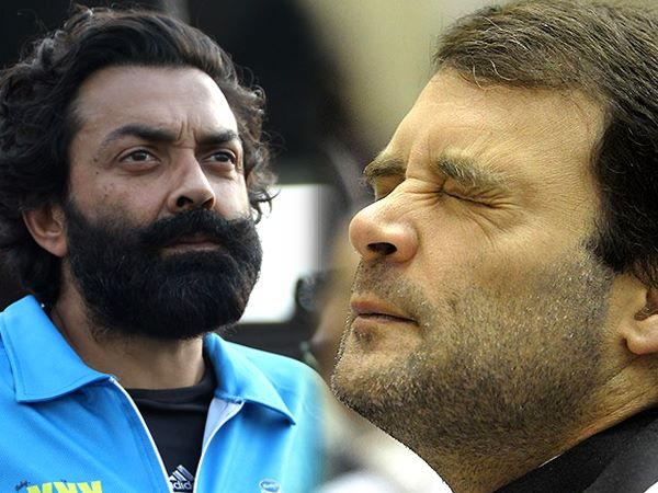 satire bobby deol and rahul gandhi talking arrier
