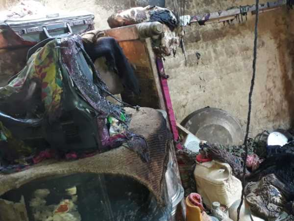 Mother died with two children in home fire in Mirzapur