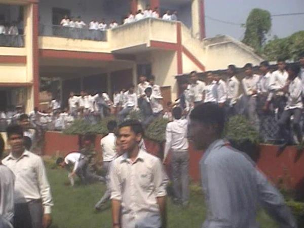 rampage in School by students in Meerut
