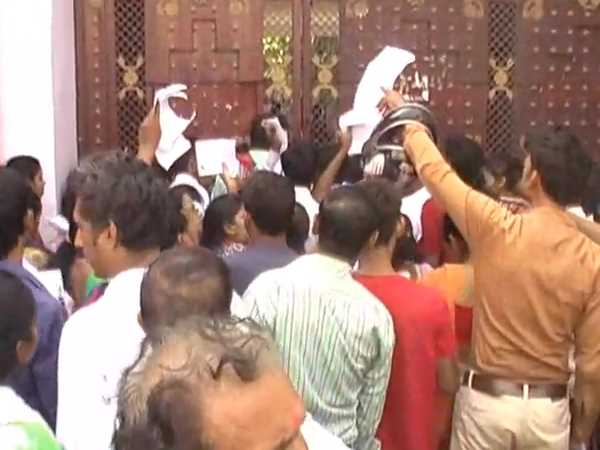 Students agitated when they stopped to give UPTET Exam