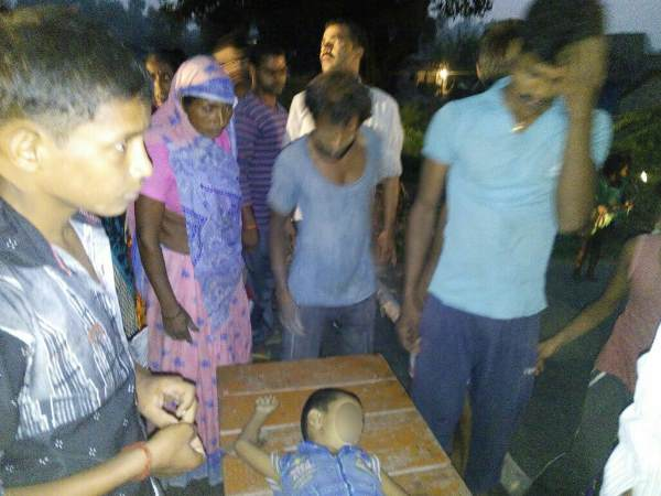 Image result for a child dead by convoy in gonda omprakash rajbhar