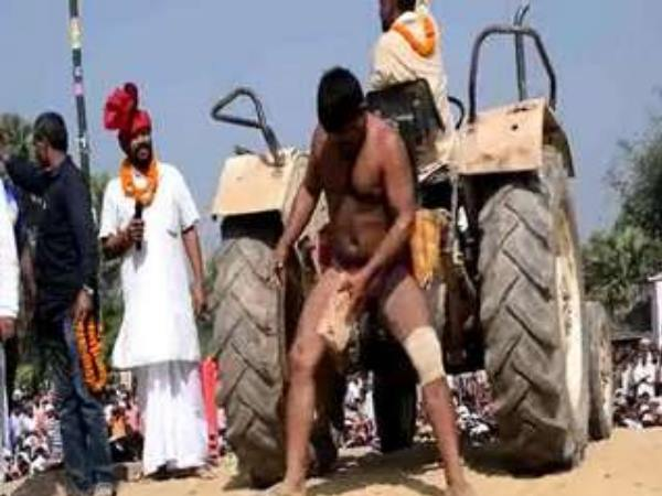 Punjab's wrestler showed feat in Bihar, people shocked