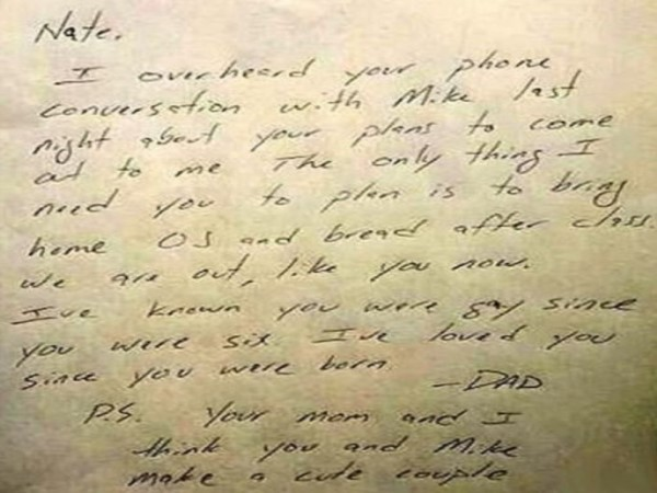 Dad's father letter to gay son goes viral