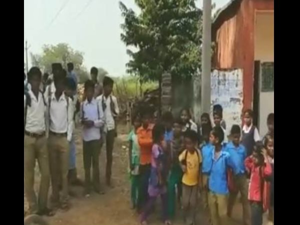 Kids in damoh Madhya Pradesh school asked to clean loo with mid-day meal plates