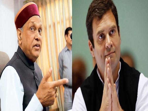 Himachal Election: BJP Prem Kumar Dhumal send legal notice to Congress Rahul Gandhi
