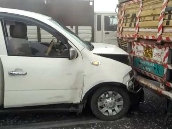 More than six injured when vehicles collided on NH 9 in Hapur