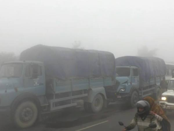 Vehicles collided on highway in dense fog, many injured in Hapur