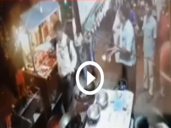 hotel owner threw boiled oil on the customer video goes viral
