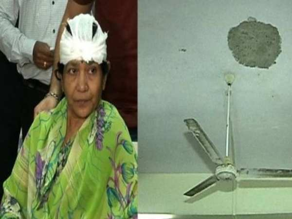 A woman injured on railway ticket counter in Mumbai