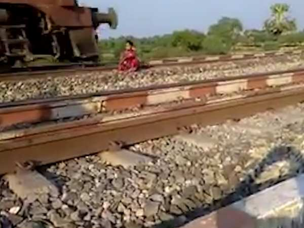 Public made video of a girl who was on rail track to suicide