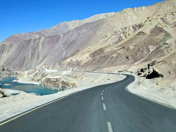 India builds motorcycle road near china border ladakh