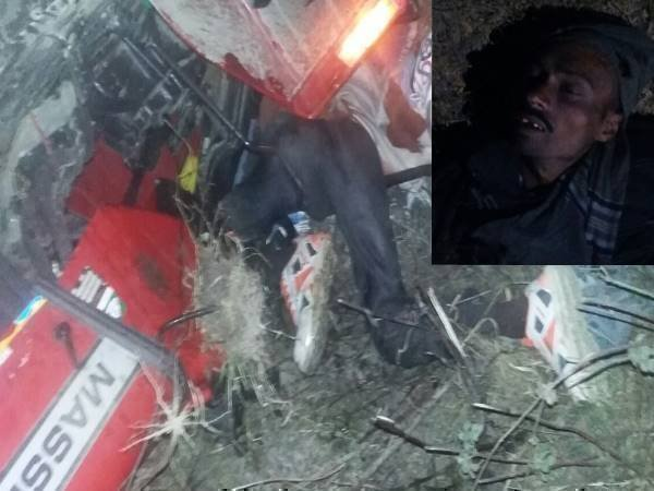 baharaich two tractor driver died in a road accident