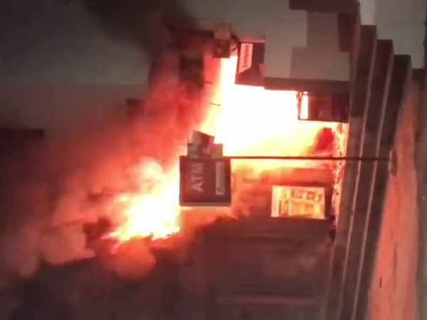Tweleve lakh rupess cash burnt in ATM fire in Pune