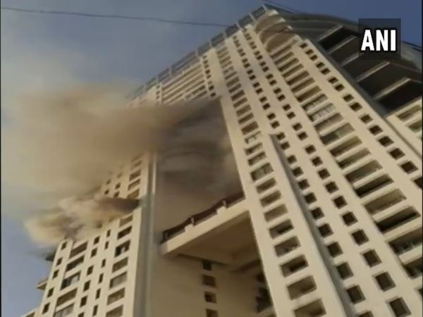 Mumbai Fire breaks out on 17th floor of a building in Walkeshwar