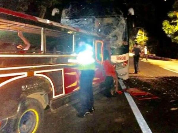 Philippines bus accident way to Christmas mass 20 dead 24 injured