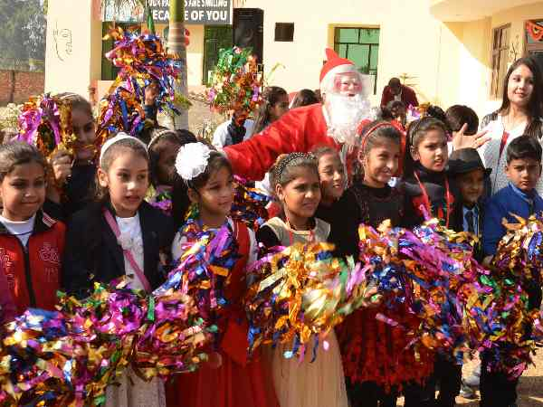 Merry Christmas Celebration by School Children in Saharanpur