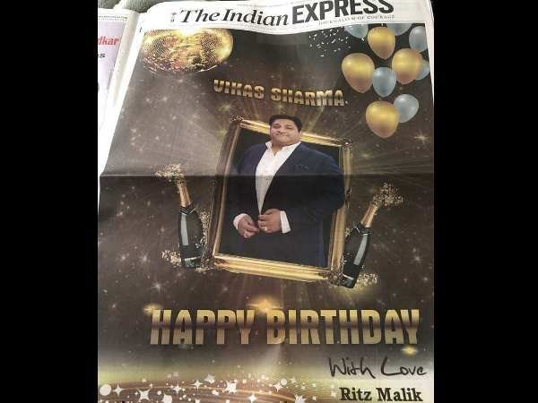 Full Page Birthday Wishes on Newspapers first page social media reactions