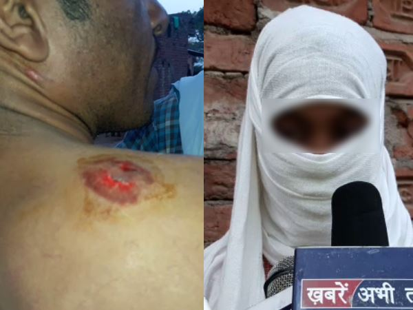 mainpuri girl molested by a boy man comes to help her also getting beaten