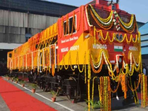 lucknow Locomotive engine made in the US is included in Indian railway fleet