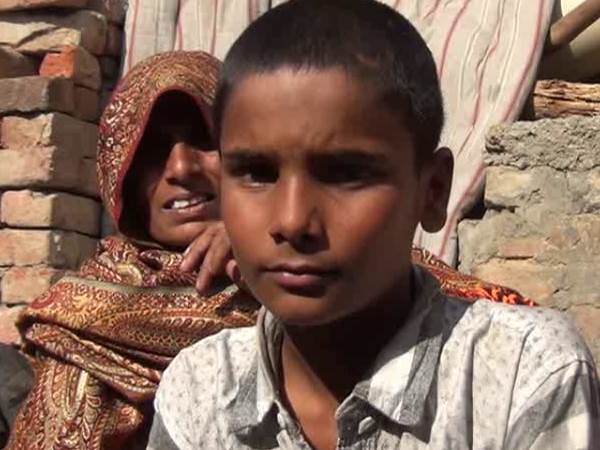 A child illegally detained by UP Police in Meerut
