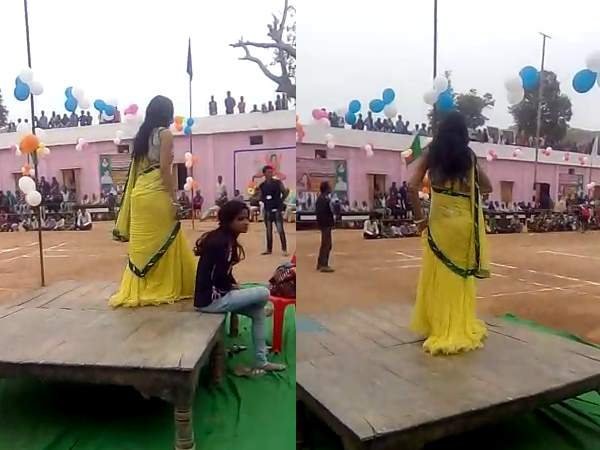 Obscene dance during exam in front of minister and DM in Madhya Pradesh