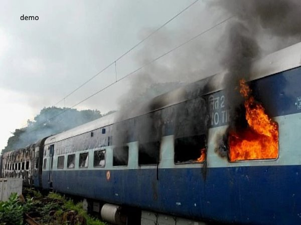 saharsa anand vihar express train set on fire no damage hapur