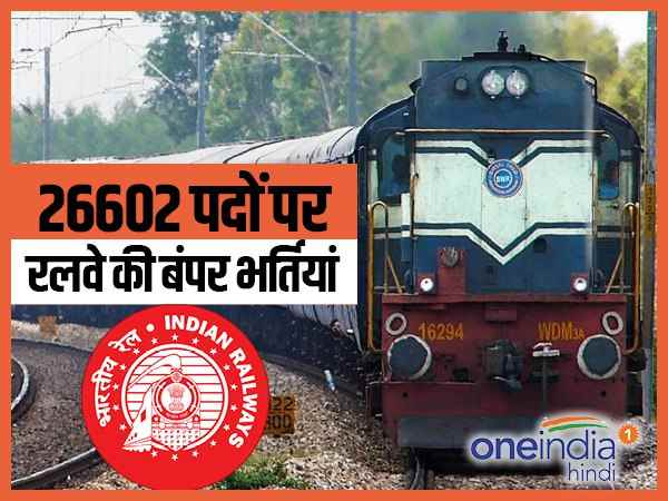 railway recruitment for 26602 posts apply from today allahabad