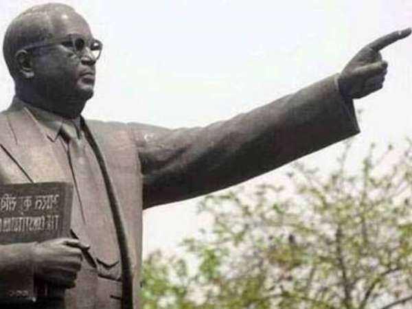 Statue of Ambedkar smeared with black colour in Bihar