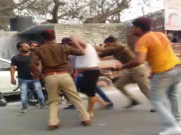 Police beat shoe businessman in Kanpur, video viral