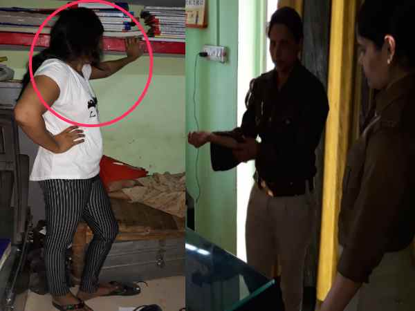 ganganagar mother and daughter rampaged on the police station