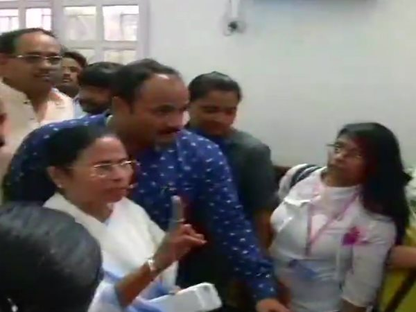 West Bengal CM Mamata Banerjee show victory sign after rajyasabha elections results