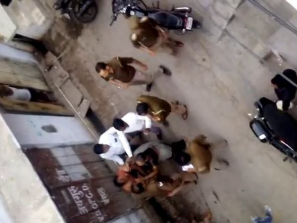 Mother son beaten by UP Police in Mathura