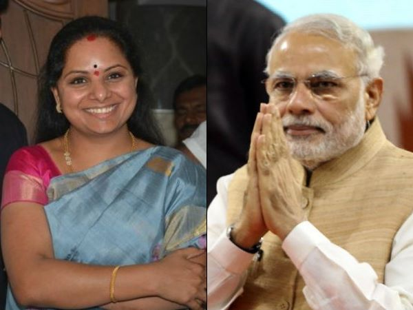PM narendra Modi wished TRS MP K.Kavitha in Telugu on her birthday