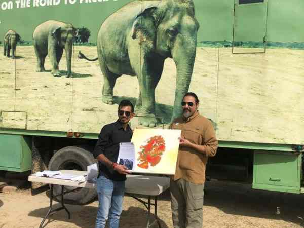 Yuzvendra Chahal visits Elephant Conservation Center