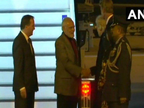 WATCH: Prime Minister Modi received by Swedish Prime Minister Stefan Löfven on arrival in Stockholm, Sweden.