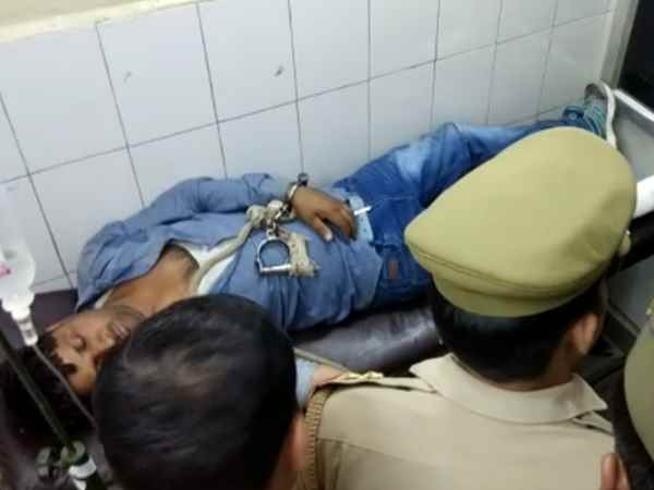 criminal arrested in a encounter with aligarh police