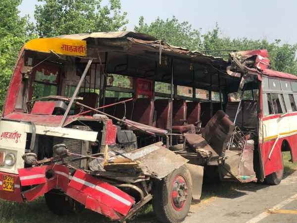 bareilly city roadways bus accident