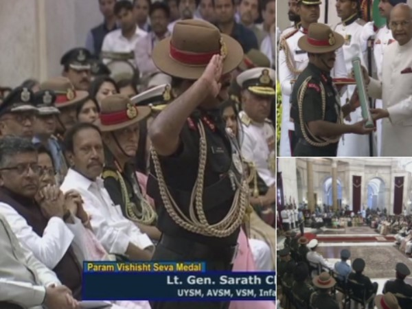 Defence Investiture ceremony being held at Rashtrapati Bhawan in Delhi