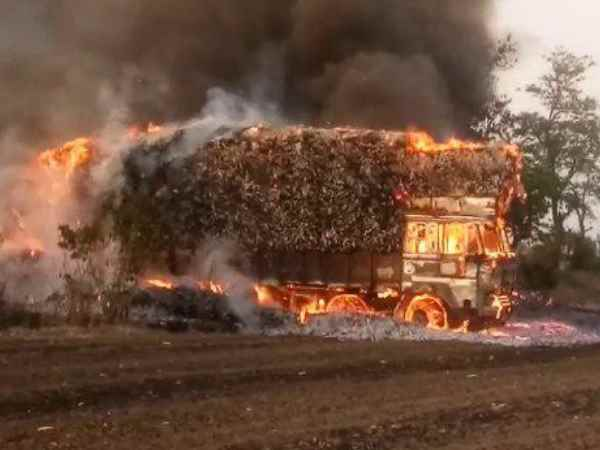 A heavy fire in the truck carrying Tandupta
