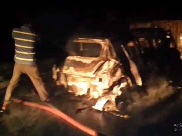 4 killed, 2 injured after a car rammed into a tractor trolley