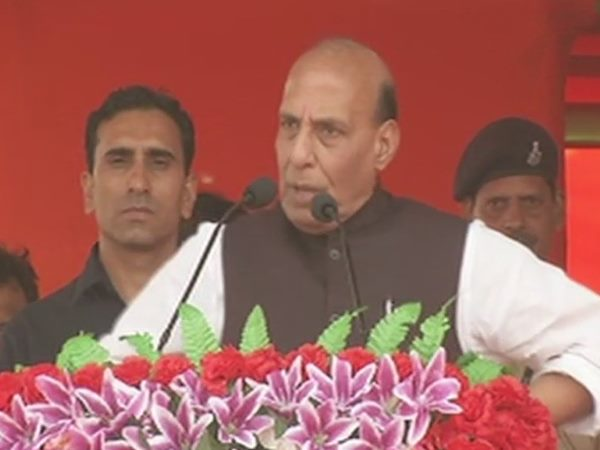 गृहमंत्री राजनाथ सिंह ने कहा, देश तोड़ना चाहता है पाकिस्तान
