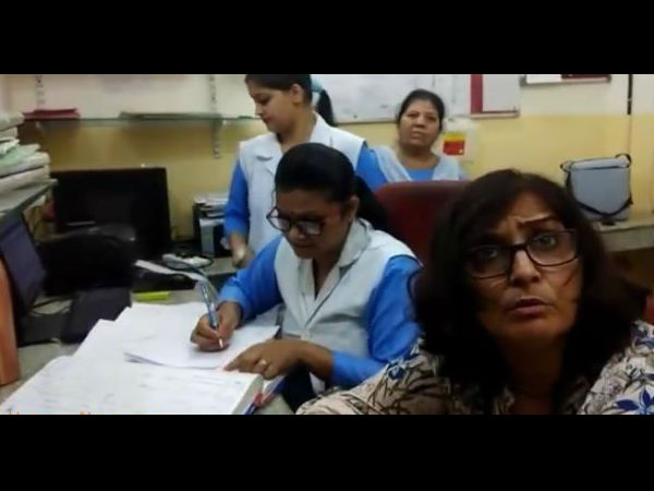 Video: Drunk Lady Doctor giving treatment to the Patients in Panchkula Hospital In Haryana.