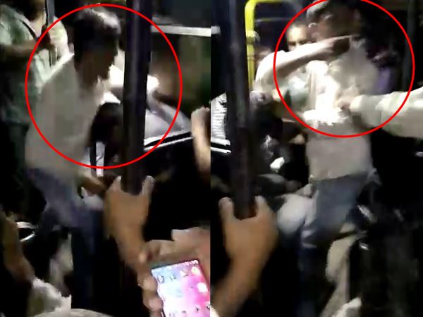 hapur unknown men beaten a driver and conductor very badly