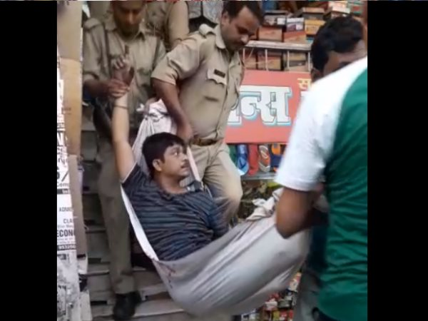 allahabad man came to kill a shopkeeper injured badly as bomb blast in its pant pocket